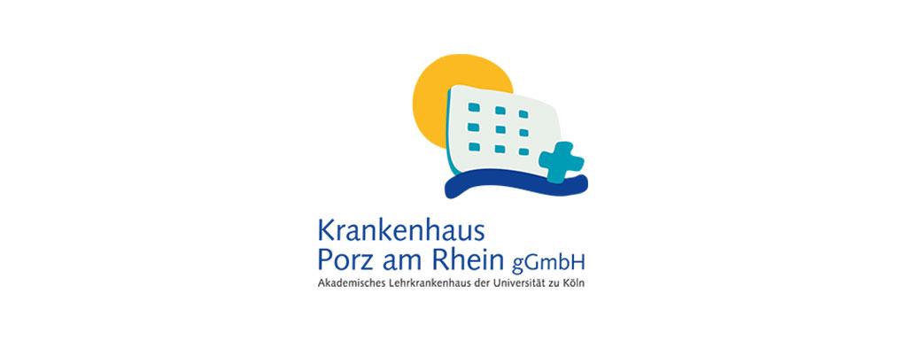 Logo Krankenhaus Porz am Rhein gGmbH. Ein Partner von Till Zimmermann, deinem Gesundheitscoach in Köln