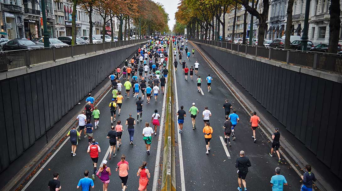Nach professionellem Personal Training mit Till Zimmermann nimmt ein Klient am Marathon teil